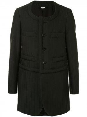 Стеганый пиджак без воротника Comme Des Garçons Homme Plus. Цвет: черный