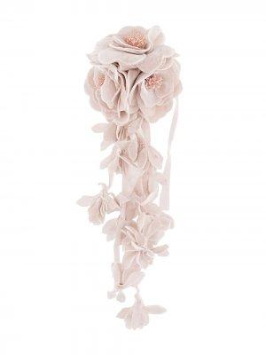 Брошь с цветочным декором Philosophy Di Lorenzo Serafini. Цвет: розовый