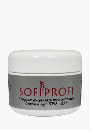 Гель для ногтей Sofiprofi камуфлирующий перламутровый бежевый 50г. Цвет: черный