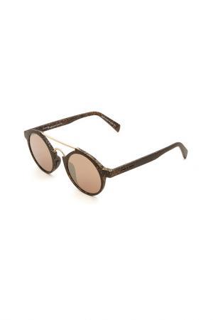 Очки солнцезащитные Italia Independent. Цвет: wal 120 черный матовый, коричн