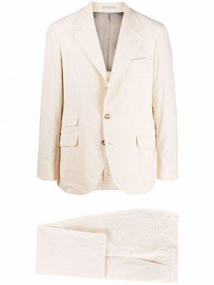 Костюм с однобортным пиджаком Brunello Cucinelli. Цвет: нейтральные цвета