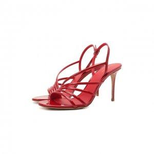 Кожаные босоножки Le Silla. Цвет: красный
