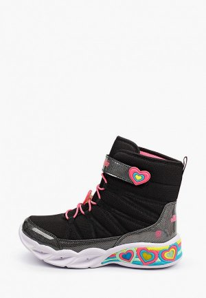 Ботинки Skechers Sweetheart Lights. Цвет: черный