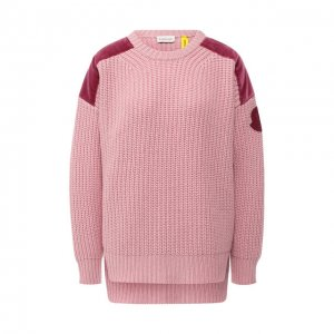 Пуловер из смеси шерсти и кашемира Moncler. Цвет: розовый