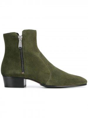 Western ankle boots Balmain. Цвет: зеленый