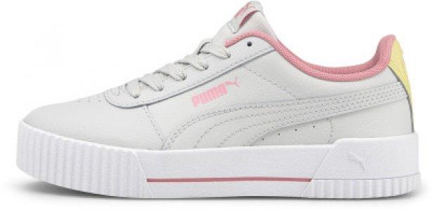 Кеды для девочек Carina, размер 35 Puma. Цвет: серый
