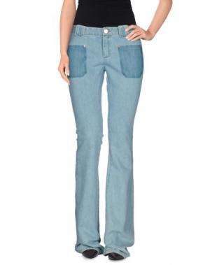 Джинсовые брюки BAND OF OUTSIDERS. Цвет: синий