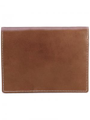 Классический бумажник Undercover. Цвет: коричневый