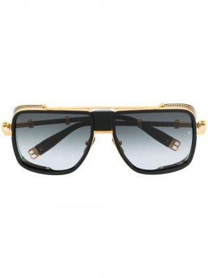 Солнцезащитные очки с градиентными линзами Balmain Eyewear. Цвет: черный