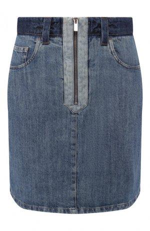 Джинсовая юбка Miu. Цвет: синий