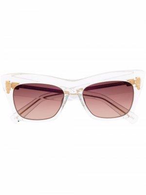 Солнцезащитные очки B-II Balmain Eyewear. Цвет: золотистый