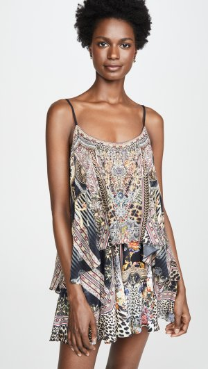 Flared Romper with Overlay Camilla