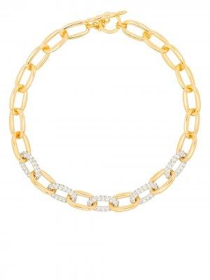 Цепочка на шею с кристаллами Kenneth Jay Lane. Цвет: золотистый