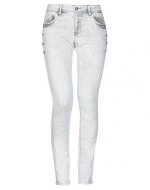 Джинсовые брюки BLUEFEEL by FRACOMINA. Цвет: светло-серый