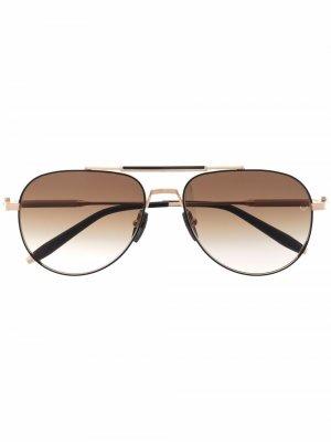 Солнцезащитные очки-авиаторы Hydra Akoni. Цвет: золотистый