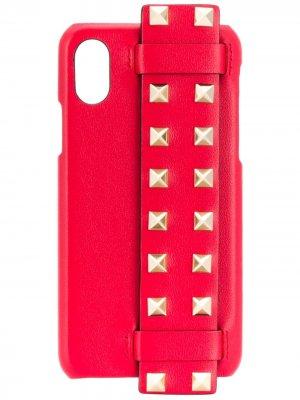 Чехол Rockstud для iPhone X Valentino Garavani. Цвет: красный