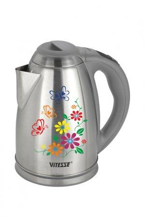 Чайник электрический 1,8л Vitesse. Цвет: серебряный, серый