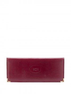 Кошелек с тисненым логотипом pre-owned Cartier. Цвет: красный