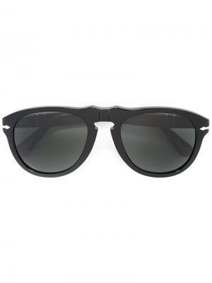 Солнцезащитные очки в круглой оправе Persol. Цвет: черный