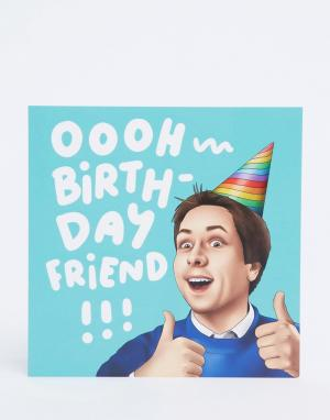 Открытка с надписью Oooh Birthday Friend WACTT-Мульти Central 23