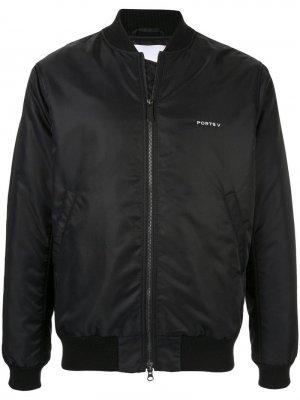Куртка-бомбер со слоганом Ports V. Цвет: черный