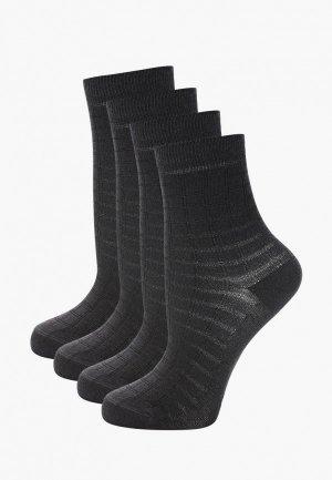 Носки 4 пары Conte-kids. Цвет: серый