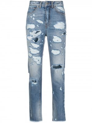 Укороченные джинсы с завышенной талией John Richmond. Цвет: синий