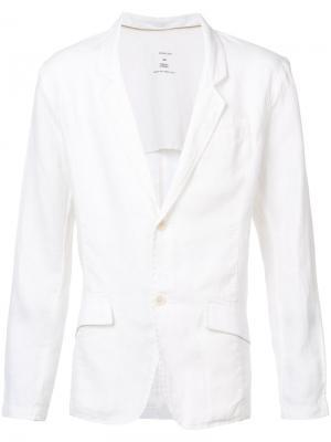 Классический пиджак Osklen. Цвет: белый