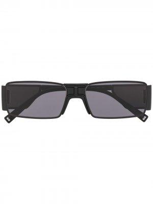 Солнцезащитные очки в квадратной оправе Givenchy Eyewear. Цвет: черный