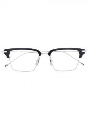 Очки в квадратной оправе Thom Browne Eyewear. Цвет: 03