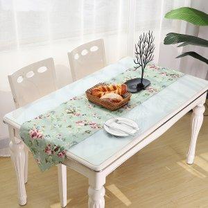Подстилка для сервировки стола с узором цветка SHEIN. Цвет: зелёные