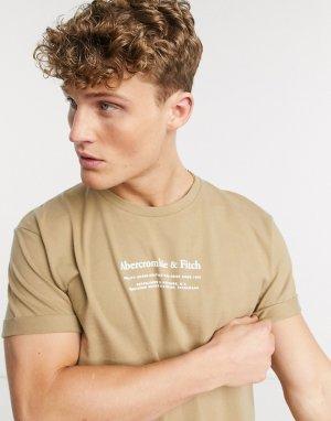 Плотная светло-коричневая футболка -Светло-коричневый Abercrombie & Fitch