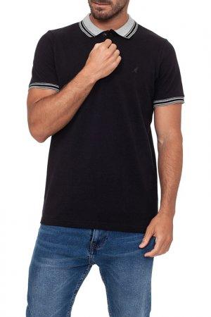 Polo t-shirt KANGOL. Цвет: black
