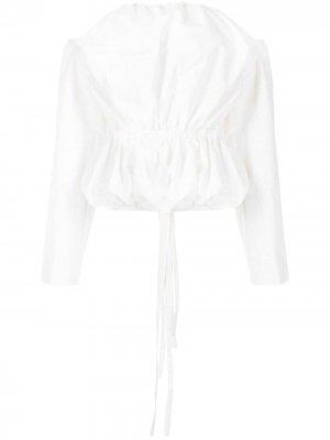 Блузка-бандо с длинными рукавами Christopher Esber. Цвет: белый
