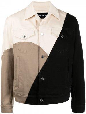 Джинсовая куртка со вставками Neil Barrett. Цвет: нейтральные цвета