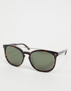 Солнцезащитные очки в круглой оправе черепаховой расцветки Etro-Коричневый цвет ETRO