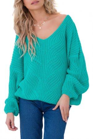 Пуловер FOBYA. Цвет: turquoise