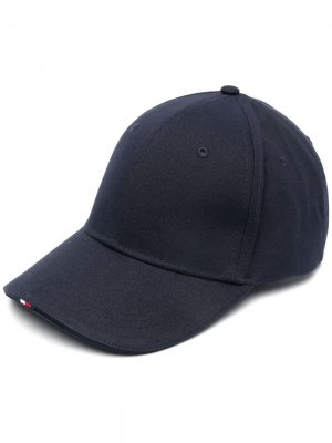 Cotton-blend baseball cap Tommy Hilfiger. Цвет: синий