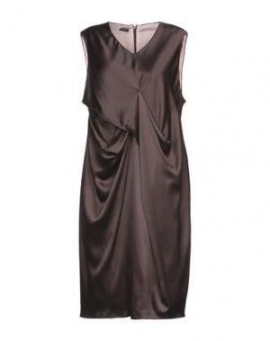 Платье до колена ANDREA TURCHI. Цвет: темно-коричневый