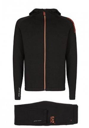 Спортивный костюм EA7. Цвет: черный