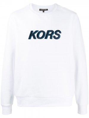 Толстовка с вышитым логотипом Michael Kors. Цвет: белый