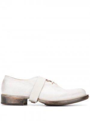Туфли дерби с ремешком Cherevichkiotvichki. Цвет: нейтральные цвета