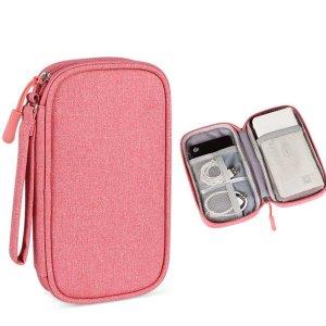 1шт портативная сумка для хранения линии передачи данных SHEIN. Цвет: розовые