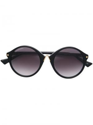 Солнцезащитные очки в округлой оправе Altuzarra. Цвет: черный