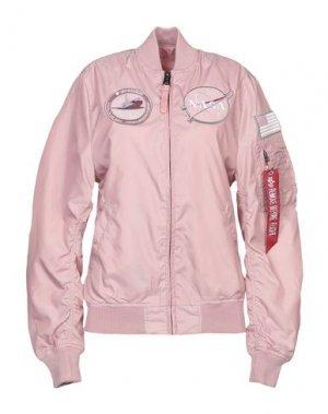 Куртка ALPHA INDUSTRIES. Цвет: розовый