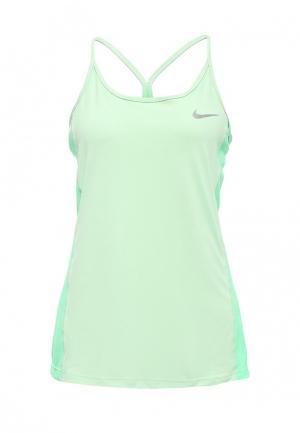 Майка спортивная Nike W NK DRY MILER TANK. Цвет: зеленый