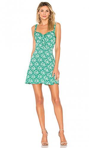 Платье-майка zamira For Love & Lemons. Цвет: зеленый