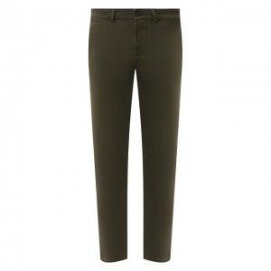 Хлопковые брюки 7 For All Mankind. Цвет: хаки