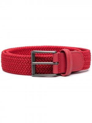 Andersons плетеный ремень с пряжкой Anderson's. Цвет: красный
