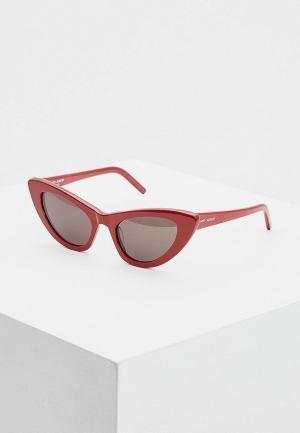 Очки солнцезащитные Saint Laurent SL 213 LILY004. Цвет: красный